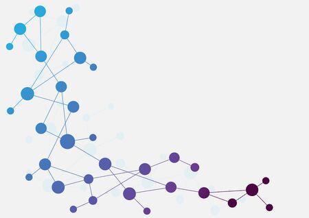 Líneas geométricas abstractas y puntos de conexión. Fondo gráfico de tecnología simple. Ilustración de diseño vectorial Concepto de red y conexión.