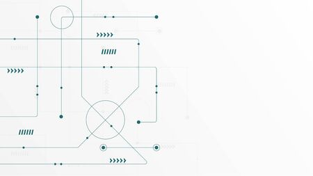 Abstract geometric connect lines and dots.Simple technology graphic background.Illustration Vector design Network and Connection concept. Reklamní fotografie - 132092714