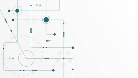 Abstract geometric connect lines and dots.Simple technology graphic background.Illustration Vector design Network and Connection concept. Reklamní fotografie - 132095980