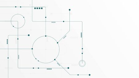 Abstract geometric connect lines and dots.Simple technology graphic background.Illustration Vector design Network and Connection concept. Reklamní fotografie - 132092486