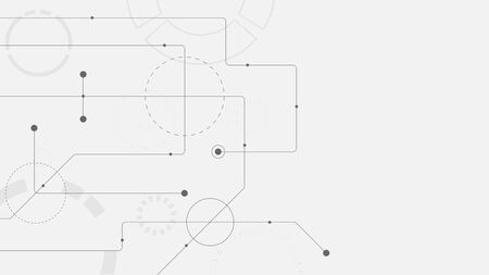 Abstract geometric connect lines and dots.Simple technology graphic background.Illustration Vector design Network and Connection concept Ilustrace
