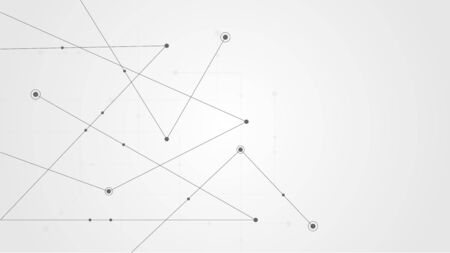 Abstract geometric connect lines and dots.Simple technology graphic background.Illustration Vector design Network and Connection concept. Çizim