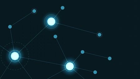 Abstract geometric connect lines and dots.Simple technology graphic background.Illustration Vector design Network and Connection concept. Stok Fotoğraf - 133616462