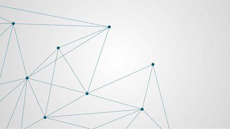 Abstracte geometrische verbinding maken met lijnen en punten. Eenvoudige technologie grafische achtergrond. Illustratie Vector netwerk en verbinding ontwerpconcept.