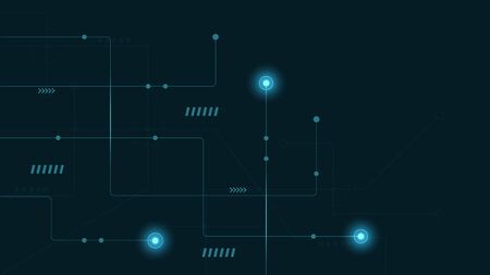 Abstract geometric connect lines and dots.Simple technology graphic background.Illustration Vector design Network and Connection concept. Stok Fotoğraf - 133616813