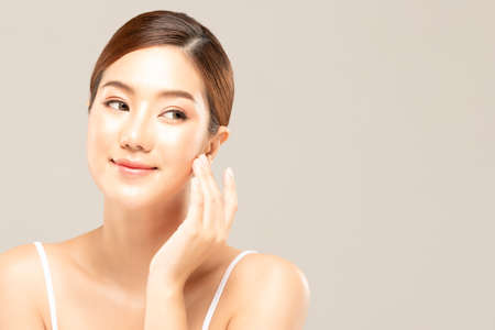 Beauty asian women portrait face with skin care healthy and skin. Stok Fotoğraf