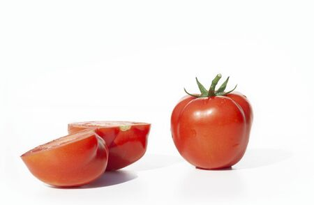 Group of whole tomato and sliced tomato Stok Fotoğraf