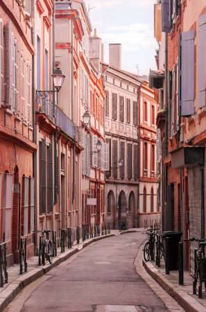 Street of Toulouse lit by the morning sun