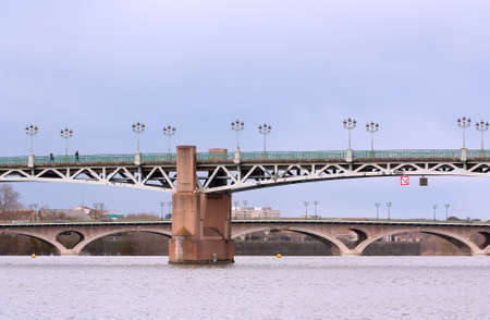 Peter's bridge over the Garonne river in Toulouse