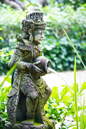 bearer: Water bearer garden statues in the garden