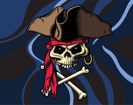 Skull & Crossbones flag Vector