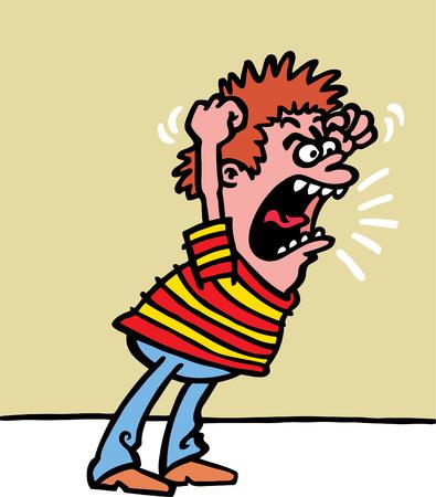persona enojada: Ni�o enojado Vectores