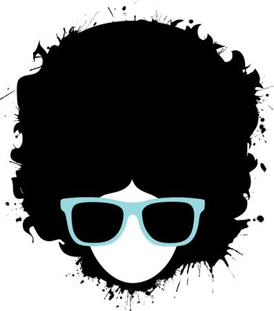 graffiti: Hombre afro de Graffiti Vectores