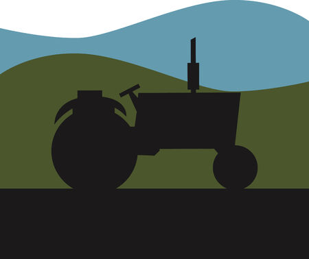 Icône de tracteur