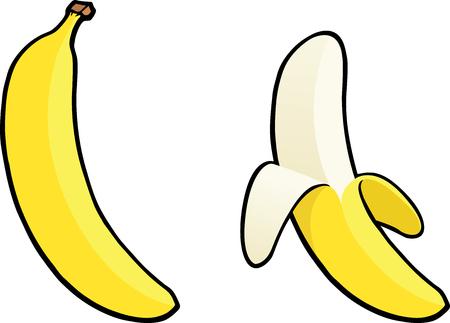 banaan cartoon: Banaan Stock Illustratie