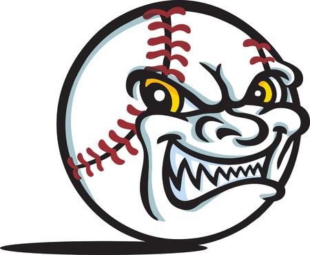 Evil Baseball Vector
