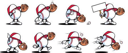 Baseball Characters Vector