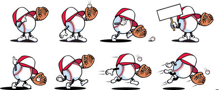 baseball cartoon: Baseball Characters