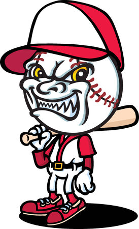 baseball cartoon: Evil Baseballer