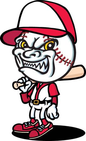 Evil Baseballer Vector