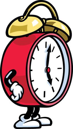 cartoon clock: Clock Man Illustration