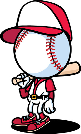 baseball cartoon: Baseball Batter Illustration