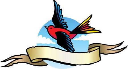 tatuaje de aves: Tatuaje de ave Vectores