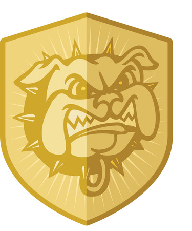 Security Dog Badge Vector