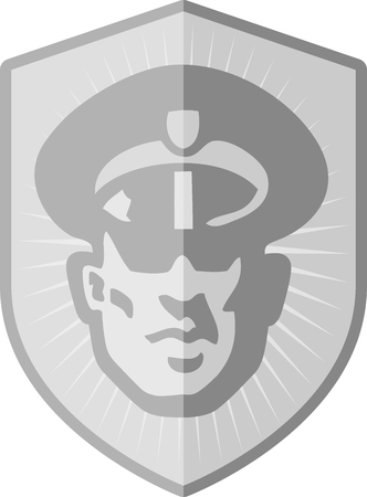 officers: Security Guard Badge Illustration