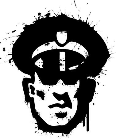 Graffiti Security Guard Stock Vector - 9072897
