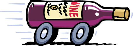 speeding car: Wine Delivery
