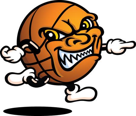 Evil Basketball Guy - Running Vector