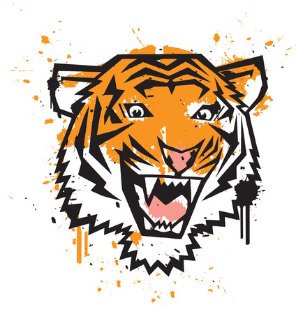 Tiger Graffiti Vector