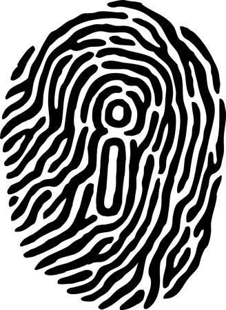 Fingerprint Identity Stock Vector - 9128501