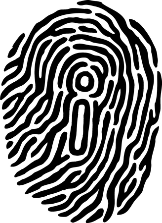 thumbprint: Fingerprint Identity Illustration