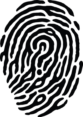 crimes: Fingerprint Question Mark Illustration