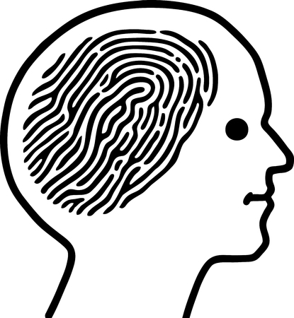 Fingerprint guy Stock Vector - 9128491