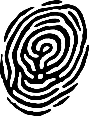 Fingerprint Question Mark Stock Vector - 9128485