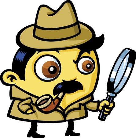 cartoon police officer: detective
