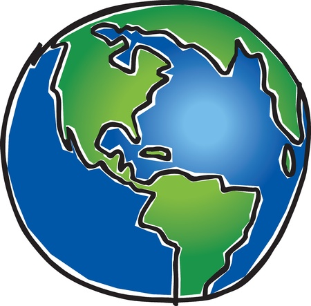 planeta verde: Tierra Vectores
