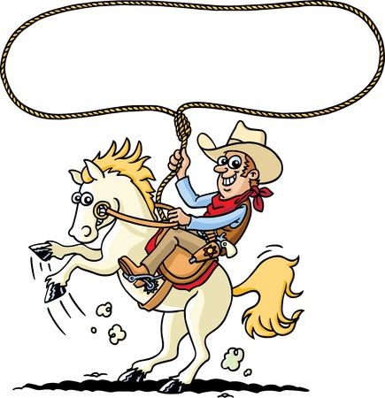 bucking horse: Cowboy Illustration