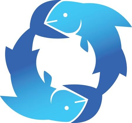Fish Circle Vectores