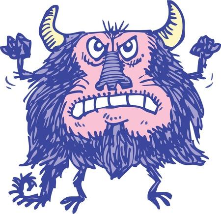 Purple Monster Vector