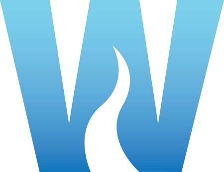 Water Letter Stock Vector - 9197030