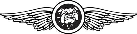 bull dog: Bull dog Wings Illustration