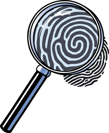 Magnifying glass fingerprint