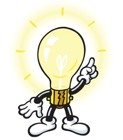 lightbulb idea: Lightbulb carattere Vettoriali