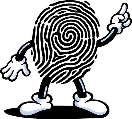 odcisk kciuka: Guy odcisków palców Ilustracja