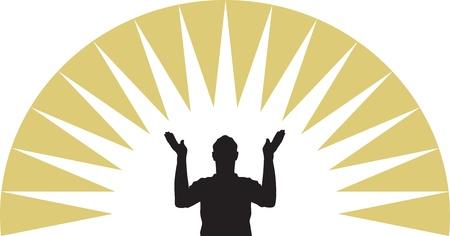 worship praise: Pray Illustration