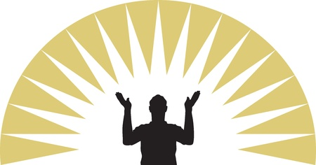 praise god: Pray Illustration